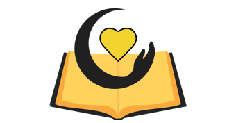 Book with Heart and Hand Icon